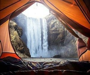 camping and waking up with a view. wanderlust.