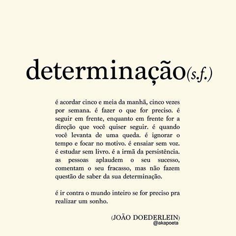 [Definição] *Determinação*