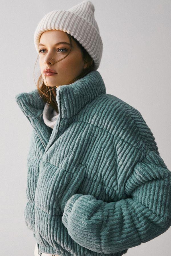 UO Fluffy Corduroy Puffer Coat   Coats for women, Fashion ...