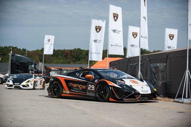 Lamborghini Gallardo coupe at brands hatch