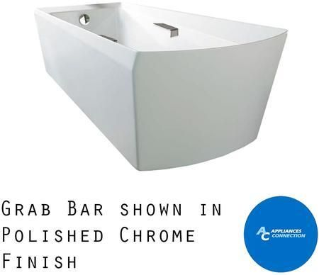 ABF964N#01DBN Soiree Series Freestanding Bathtub with Cast Acrylic Construction Slip-Resistant Surface and Brushed Nickel Grab Bar