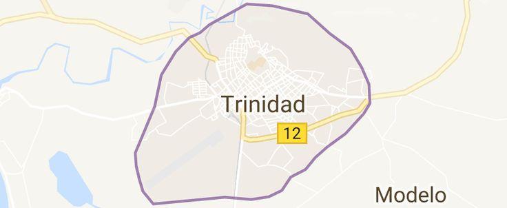 Map of Trinidad Cuba
