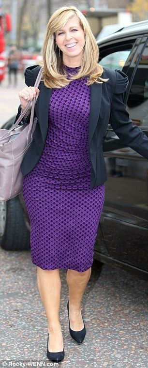 Well-groomed: Kate, who co-stars with Susanna Reid on the breakfast show, was sporting per...