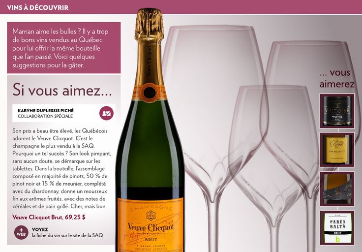 Le champagne Veuve Clicquot brut - La Presse+