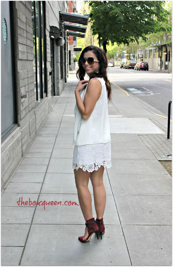 WHITE LACE SKIRT OUTFIT & HOW TO CARE FOR YOUR SUMMER PIECES | The Box Queen #stylebymethod #CleverGirls