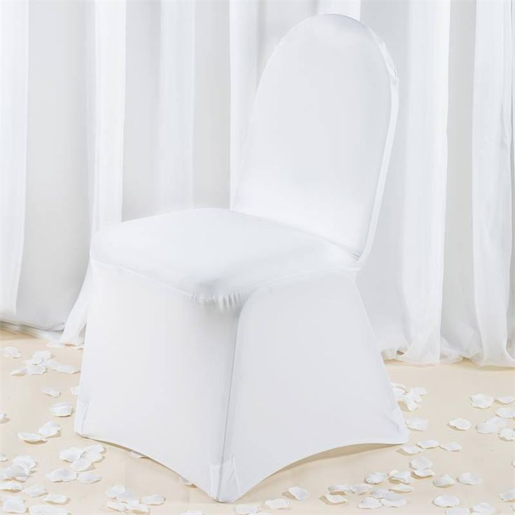 Premium Spandex Chair Cover - White |  Our premium quality stretch chair covers offer a sophisticated, contemporary look for ordinary banquet chairs. These chair covers are crafted from a four way stretch high quality heavy duty Spandex material that stretches all the way and snuggles to fit any chair perfectly. The supreme quality fabric doesn't slip or trip over, thus adds perfection and style to your ambiance. These outstanding chair covers have amazing absorption to leakage and blotches…
