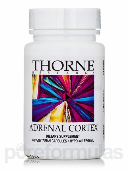 Adrenal Cortex 60 Vegetarian Capsules- this is what I use for my low morning, noon and evening cortisol levels...has worked wonders for improving my levels! Be sure to run a 24 hour adrenal saliva cortisol test before taking ANY form of adrenal supplements!