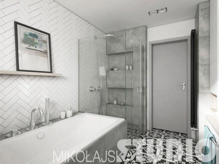biało-szara łazienka