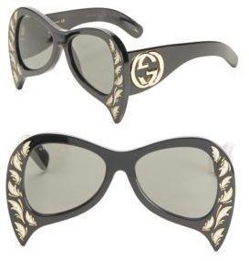 12ab8f5758993 Gucci 55MM Oversize Bat Sunglasses