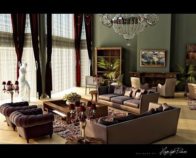 Creative Luxurious Living Room Loving The Wall Colour