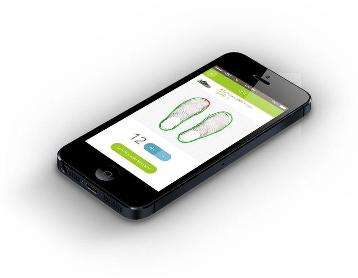 vFit Shoes, Virtual Fit Shoe App