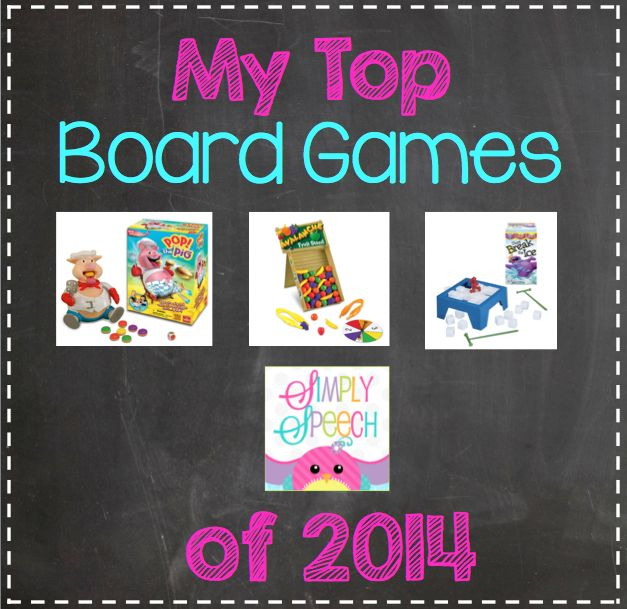 Simply Speech: My Top Board Games of 2014! {Linky Party!}