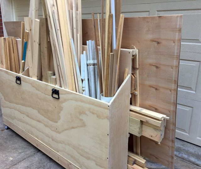 DIY Woodworking Ideas Scrap Wood Rolling Organizer Cart | The Project Lady
