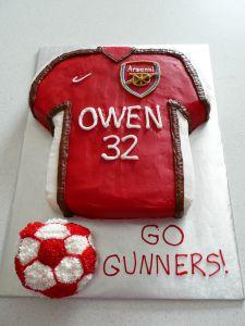 Arsenal Soccer Jersey Cake