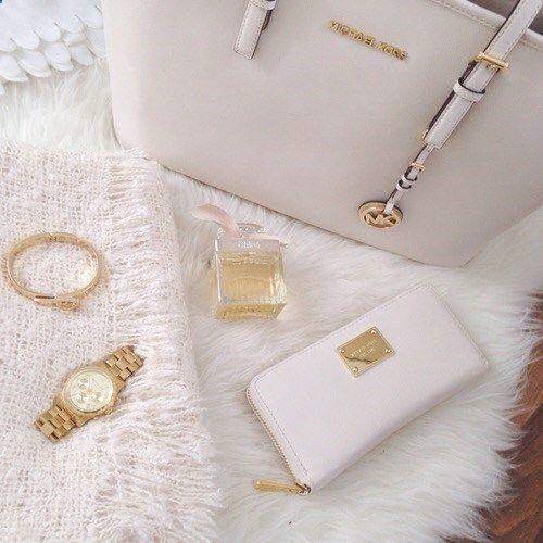 Michael Kors bag wallet - White