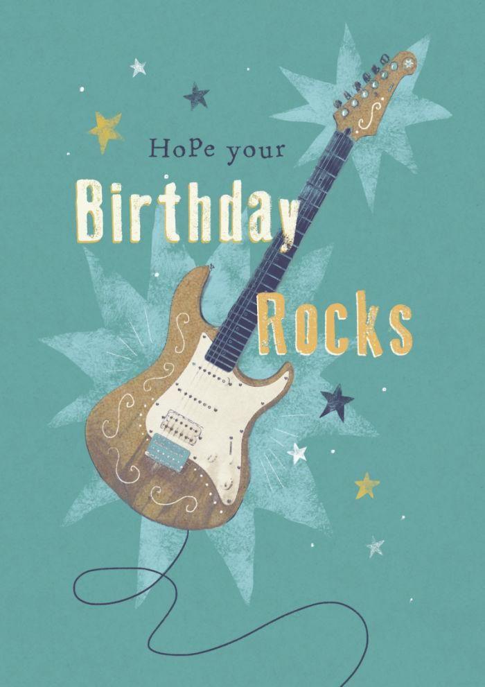 Happy Birthday Music Rock Guitar Happy Birthday Nephew