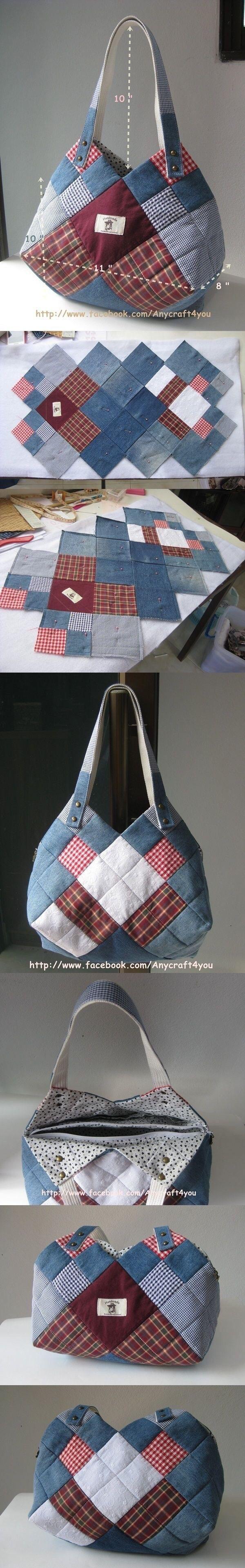 조각잇기의 변형으로 가방의 모양을 약간씩 달리할 수 있는 방법입니다.위의 가방과 아래의 가방은 조각을 ...