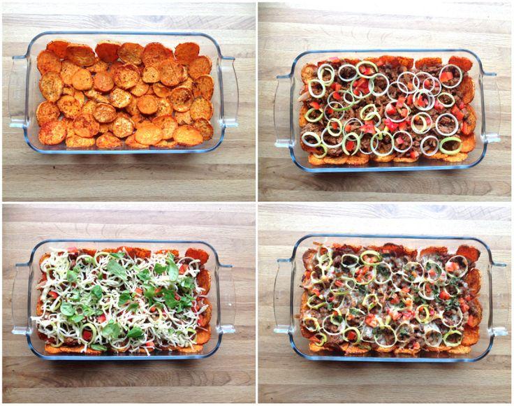 Søtpotet nachos - sunt&smakfullt! (Linda Stuhaug)