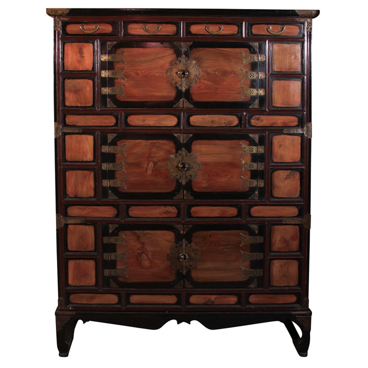 1stdibs - Tall Korean Lacquered Wood Clothing Chest explore items from 1,700  global dealers at 1stdibs.com