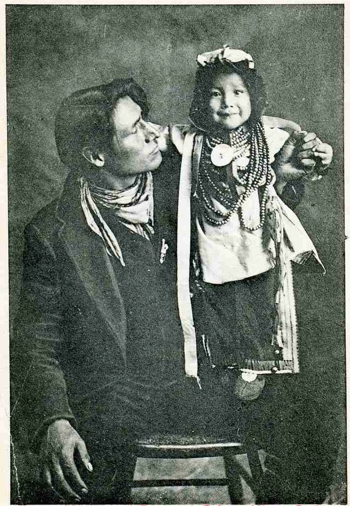 'Native Father & child' ~ Prince Albert, Saskatchewan c1920s-30s  Subjects: unnamed Photographer: unknown