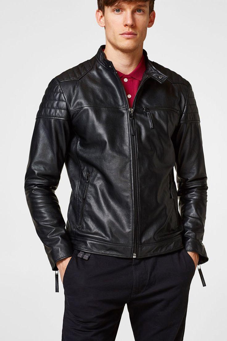 Esprit Leather Biker Jacket In Goatskin Leather [ 1103 x 736 Pixel ]
