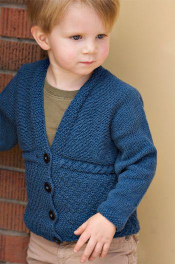 Free knitting pattern for Ewan Cardigan