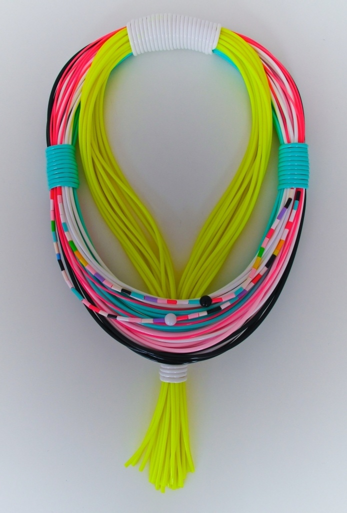 """Flourescent Monkeys Part 2"" Jewellery piece by Blandine Bardeau"