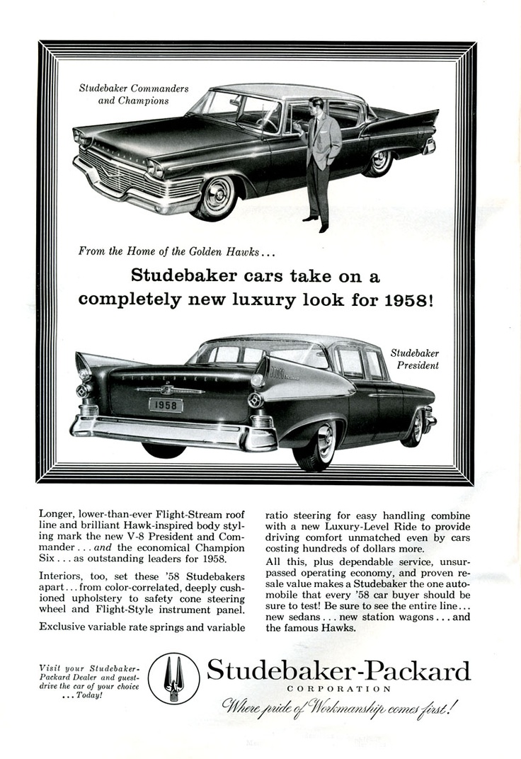 Research magazine advertisements the best resource on the net of vintage ads studebaker corporation of america