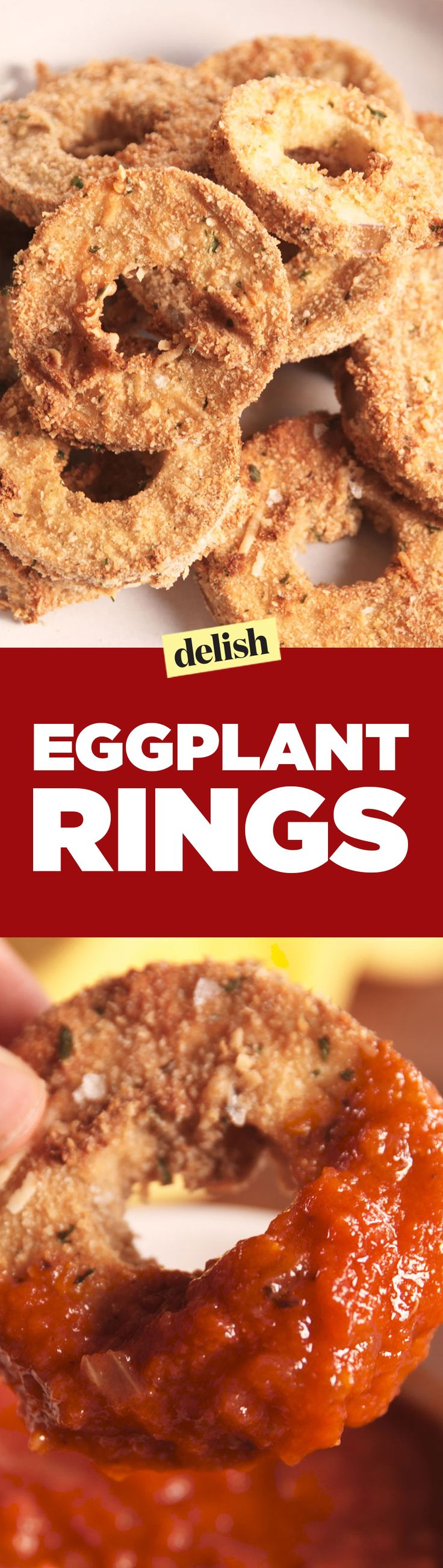 Not only do Eggplant Rings taste better than onion rings, but they're healthier, too. Get the recipe on Delish.com.
