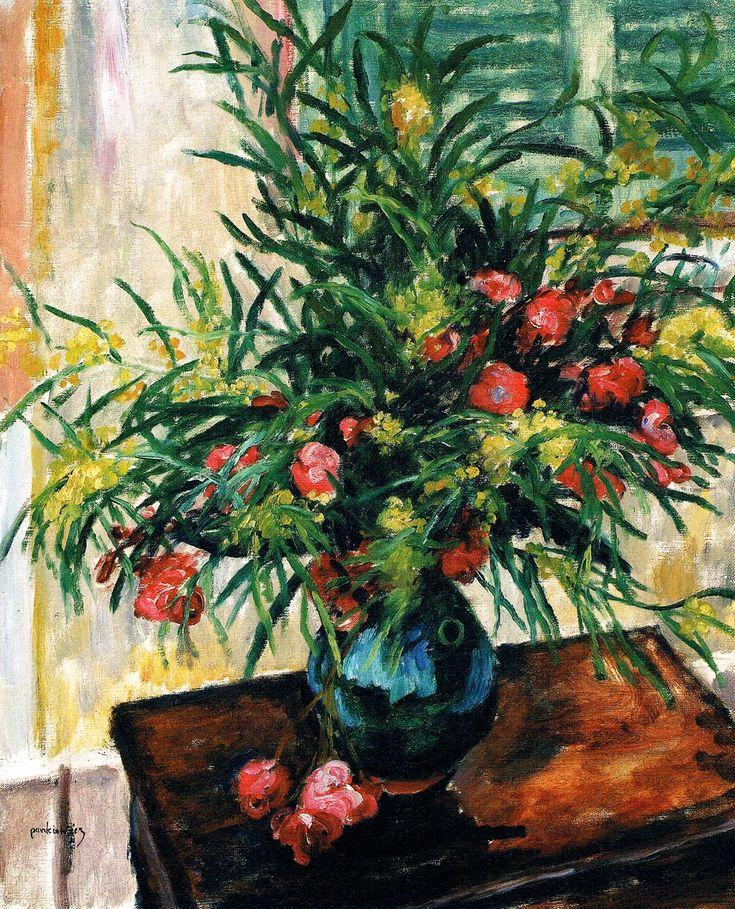 Bukiet - mimoza i oleander