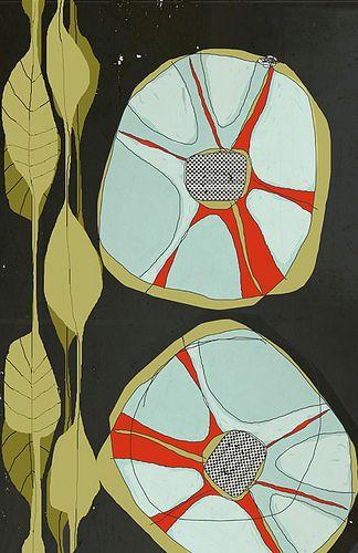 jardin stylized flower print