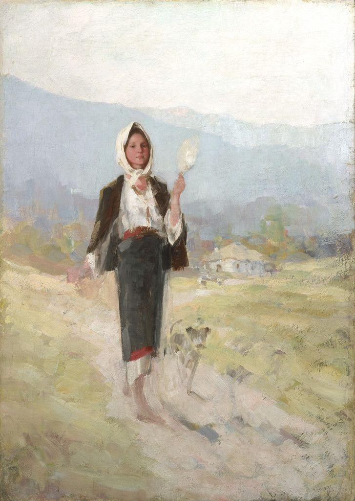 Nicolae Grigorescu - Ţăranca cu furca