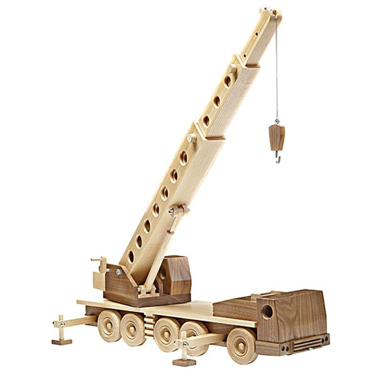 Construction-grade Truck Crane Woodworking Plan from WOOD Magazine  I love to make toys like this....It's been a long time since I made anything like this...must start again!! I've never followed any plans, just made them as I go along, however looking at the web site, these plans are cheap to buy, perhaps I'll use them.
