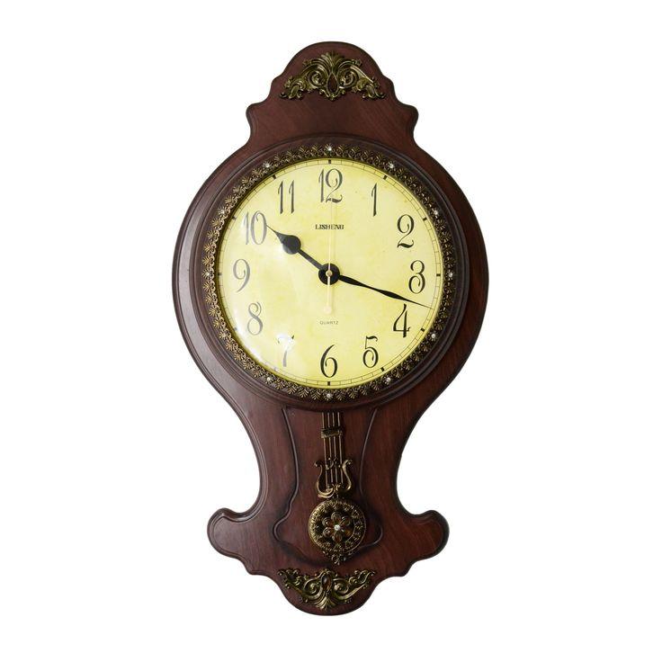 Three Star Classic Wall Clock with Swinging Pendulum