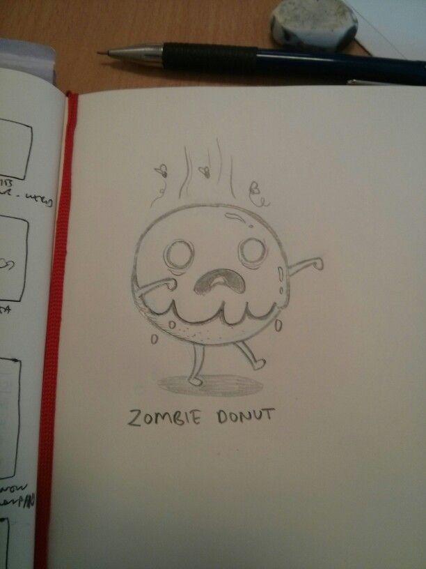 Zombie donut sketch