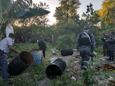 Desmantelan fábrica de clerén en Barahona