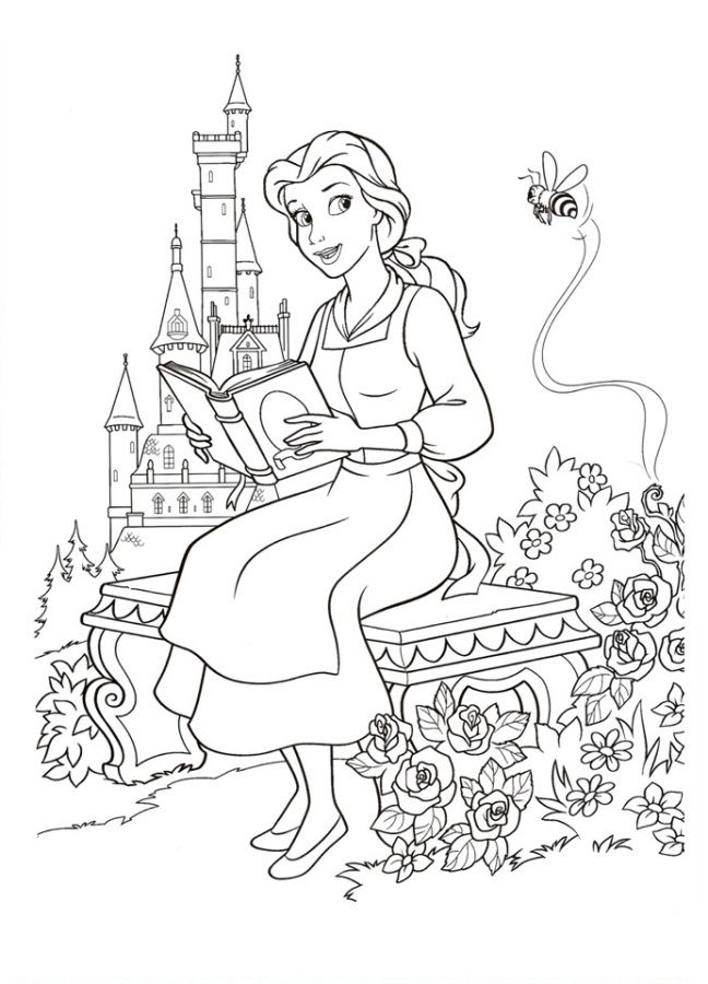 Disney S Beauty And The Beast Colouring Sheets Disney Coloring Pages Disney Coloring Sheets Disney Princess Coloring Pages