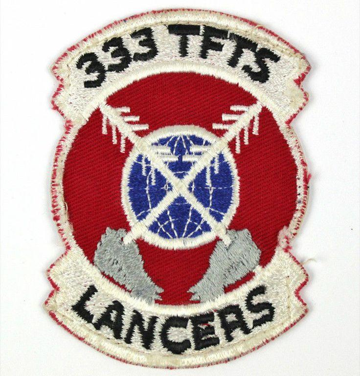 USAF 333 TFTS Lancers Cloth Uniform Patch Design
