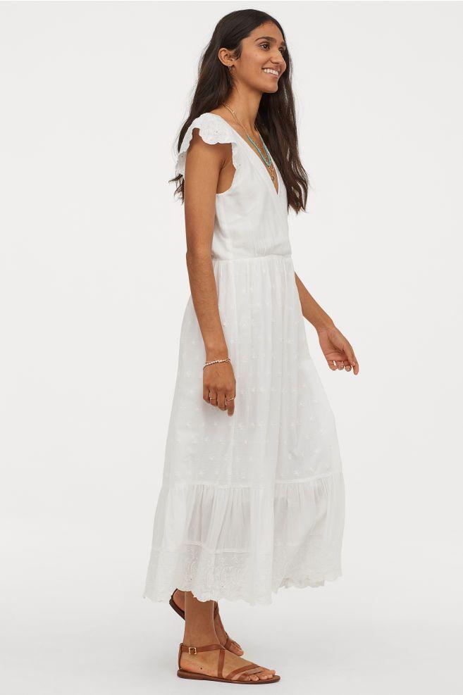 18+ White cotton dress ideas