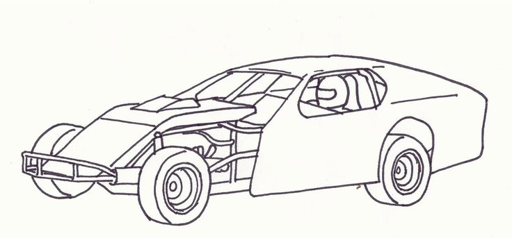 modified race car coloring pages