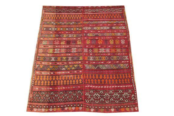 Anatolian Kilim Rug 95 x 55 Feet Striped Kilim by kilimwarehouse