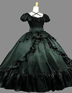Steampunk®Victorian Satin Civil War Southern Belle Prom Dress Ball Gown