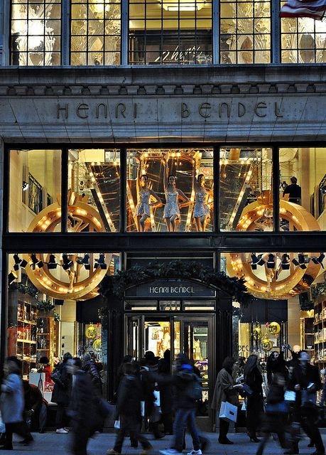 shopping at Henri Bendel, NYC