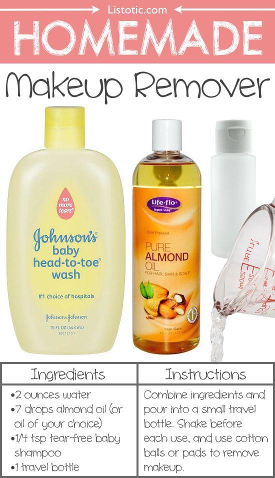 # 15.  Homemade Desmaquillante - (! Por menos) 22 Todos los días los productos usted puede hacer fácilmente desde casa Estos son todos mucho más saludable, también!