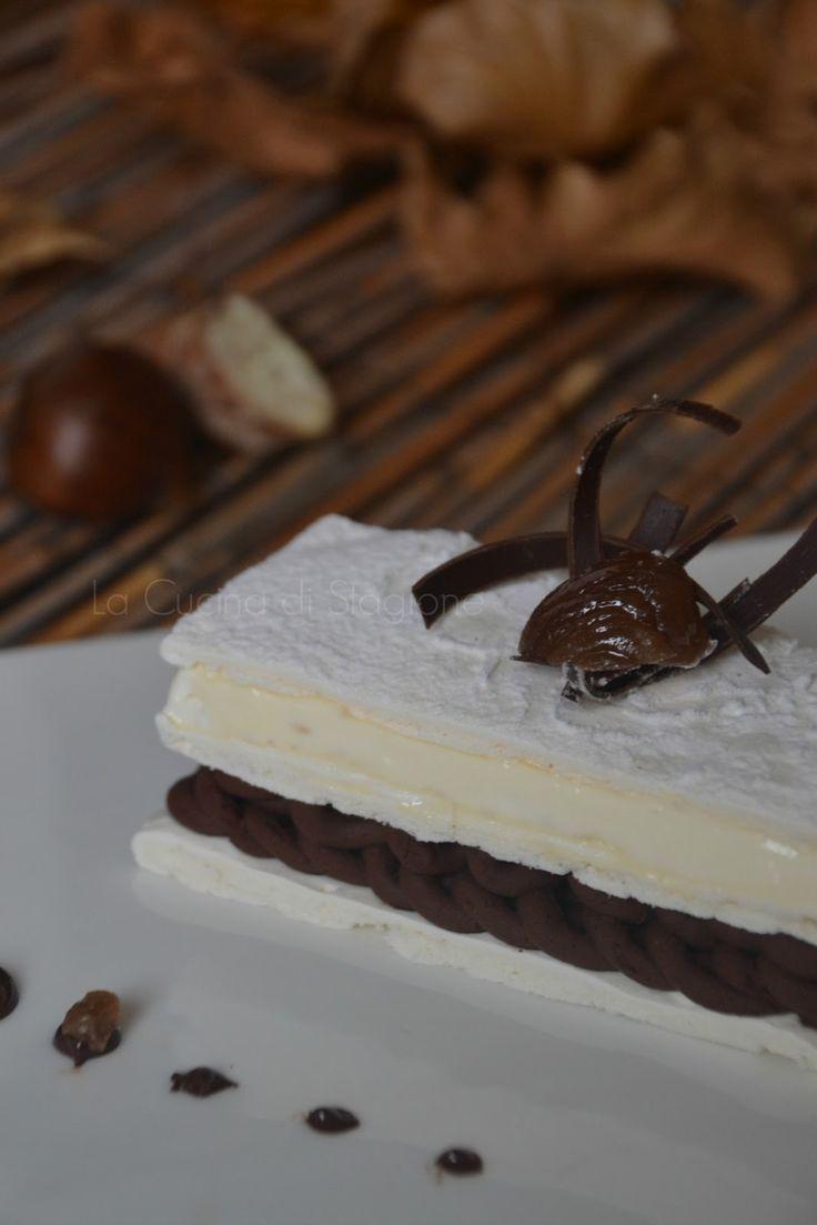 La Cucina di Stagione: Montblanc (Montebianco) in millefoglie di meringa e chantilly