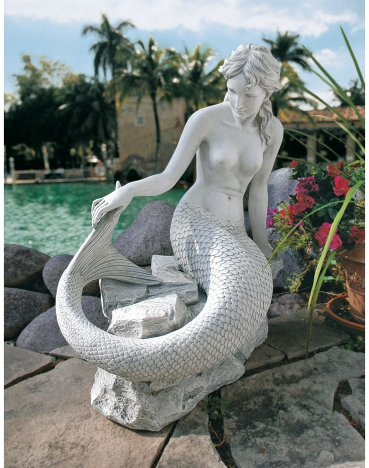 Mermaid Sculpture | Poolside Ideas | Pinterest | Mermaid Sculpture, Mermaid  And Merfolk