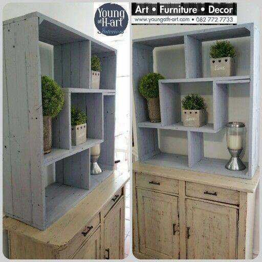 Solid wood tetris shaped shelf. www.youngath-art.com
