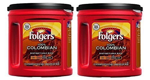 Fresh Taste of Folgers Coffee 100 Colombian Ground Coffee MedDark Flavor 35 Oz Canister  2 pk *** Find out more about the great product at the image link. (This is an affiliate link) #GroundCoffee