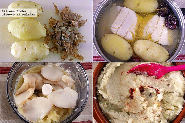 Atascaburras murciano o bacalao con patatas. Receta de Semana Santa