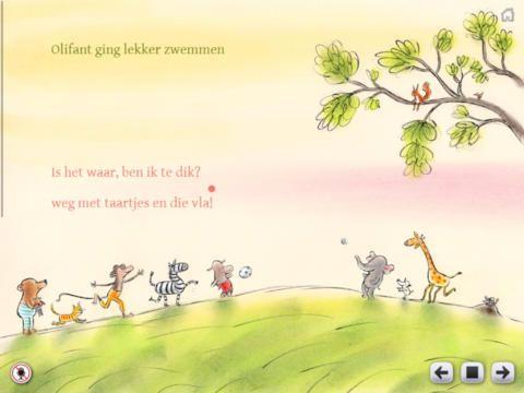 Dierendorpje, schattige app met liedjes van Kim-Lian van der Meij en tekeningen van Gitte Spee